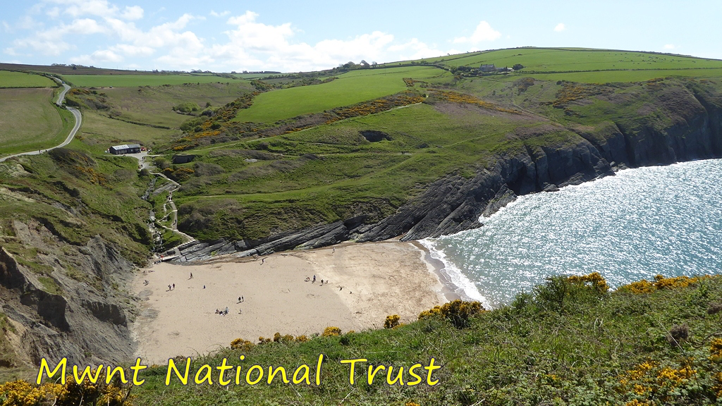 View of Mwnt National Trust Beach