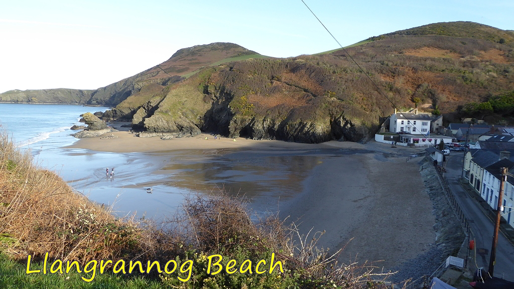 View of Llanrannog Beach