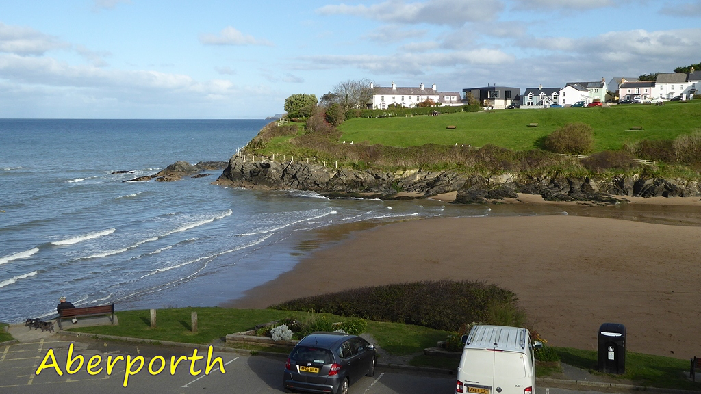 View of Aberporth Beach
